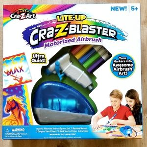 NEW Cra-Z-Art Lite Up Blaster Motorized Airbrush